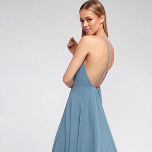 Lulu Dress - Slate Blue